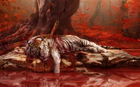 Far Cry 4, Tiger tot HD Hintergrundbilder