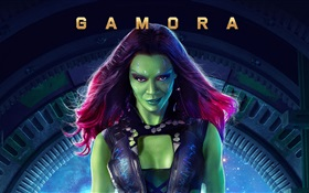 Zoe Saldana als Gamora, Guardians of the Galaxy HD Hintergrundbilder