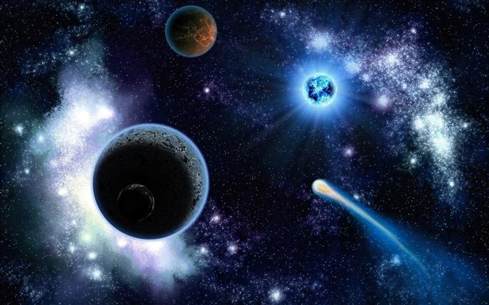 Planeten Sterne Kosmische Hd Hintergrundbilder Universum