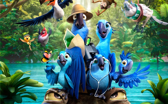 Rio 2, cartoon Film Hintergrundbilder Bilder