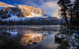 Banff Nationalpark , Kanada, Rocky Mountains, See, Morgen, Wasser Reflexion HD Hintergrundbilder