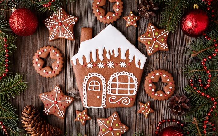 Hintergrundbilder Frohe Weihnachten.Frohe Weihnachten Kekse Dessert Neujahr Hd